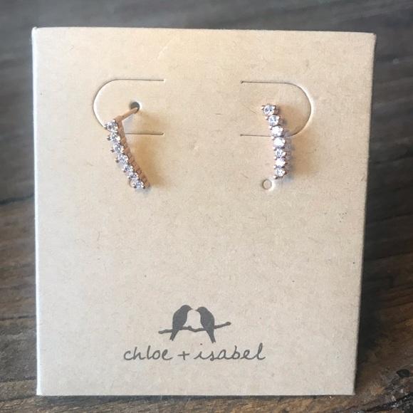 Chloe + Isabel Jewelry - Petit Bijoux Rose Gold Ear Climbers